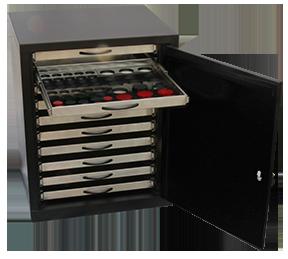 Metallographic specimen storage cabinet
