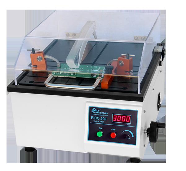 Metallographic medium speed precision wafering saw