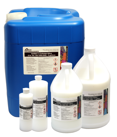 PACE Technologies Metallographic SIAMAT2 low crystallizing colloidal silica
