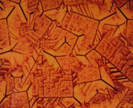 Metallographic micrograph of alumino-silicate glass ceramic