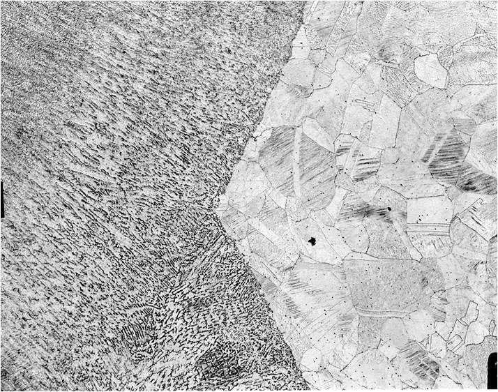 Metallographic micrograph of Perfect Weld