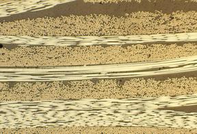 Carbon-carbon composite microsctructure