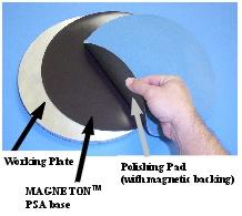 Metallographic magnetic polishing plates