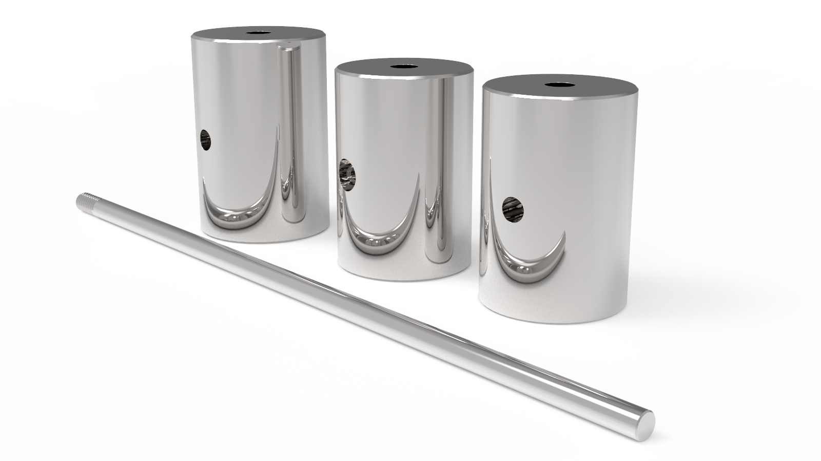 Stainless steel weight stack components
