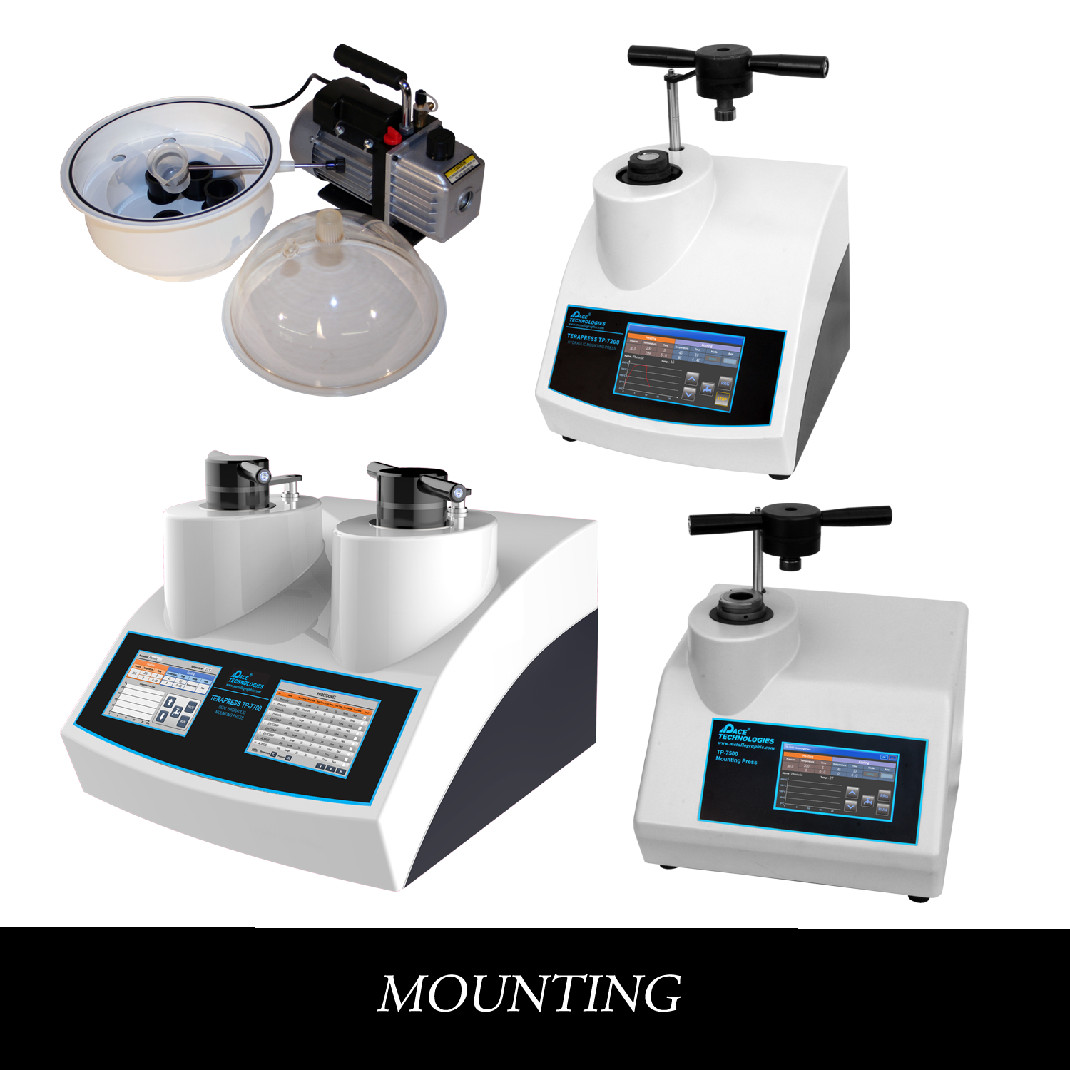 Metallographic Compression Mounting Presses