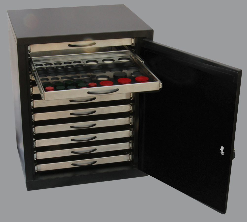 Metallographic speicmen storage cabinet