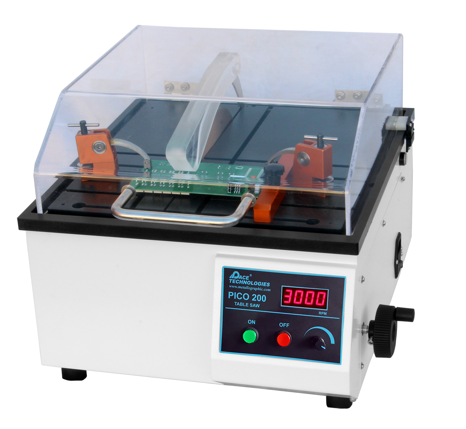 Metallographic Precision Laboratory Saws Cut Circuit Board With Handheld Electric Saw Medium Speed Wafering