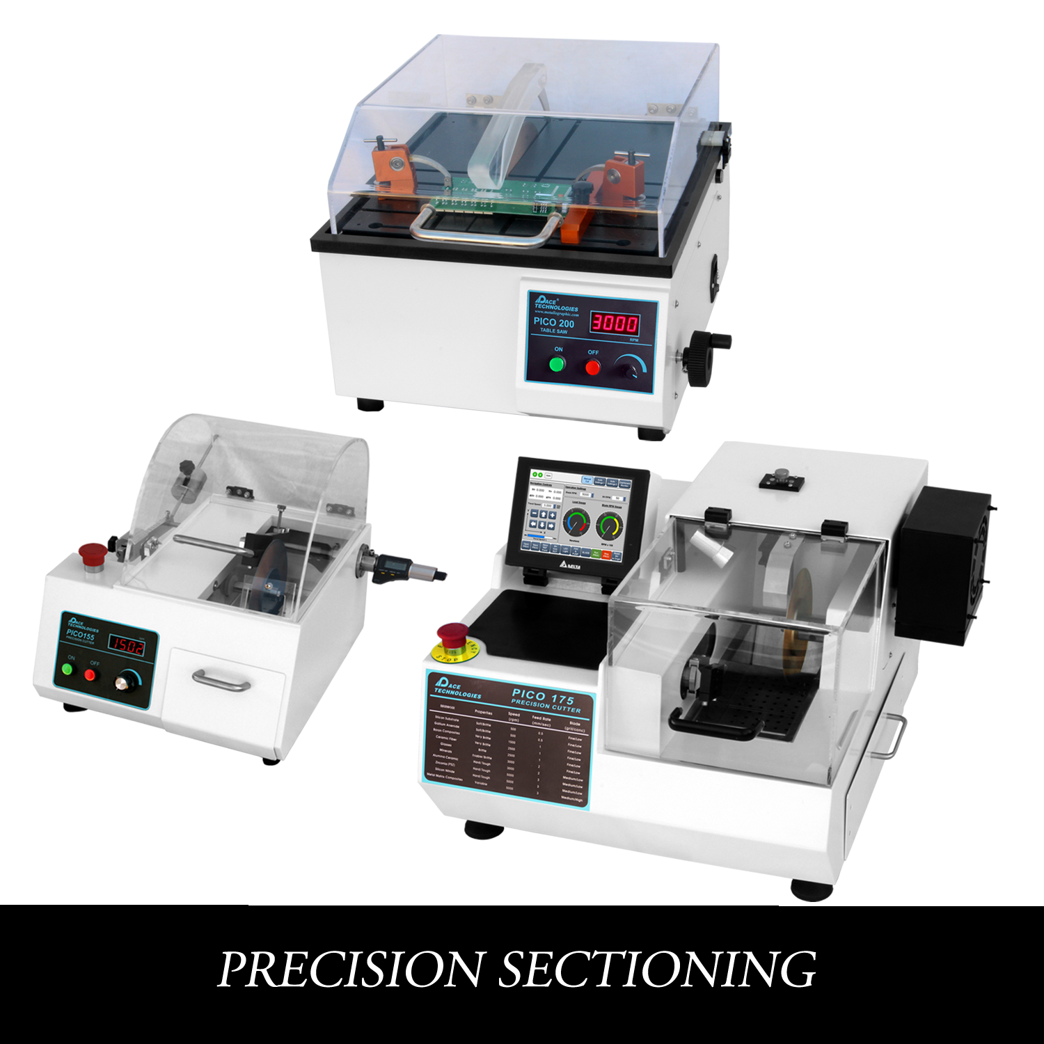 Metallographic Precision Sectioning saws