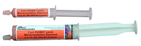 PACE Technologies Metallographic 9 micron monocrystalline diamond paste