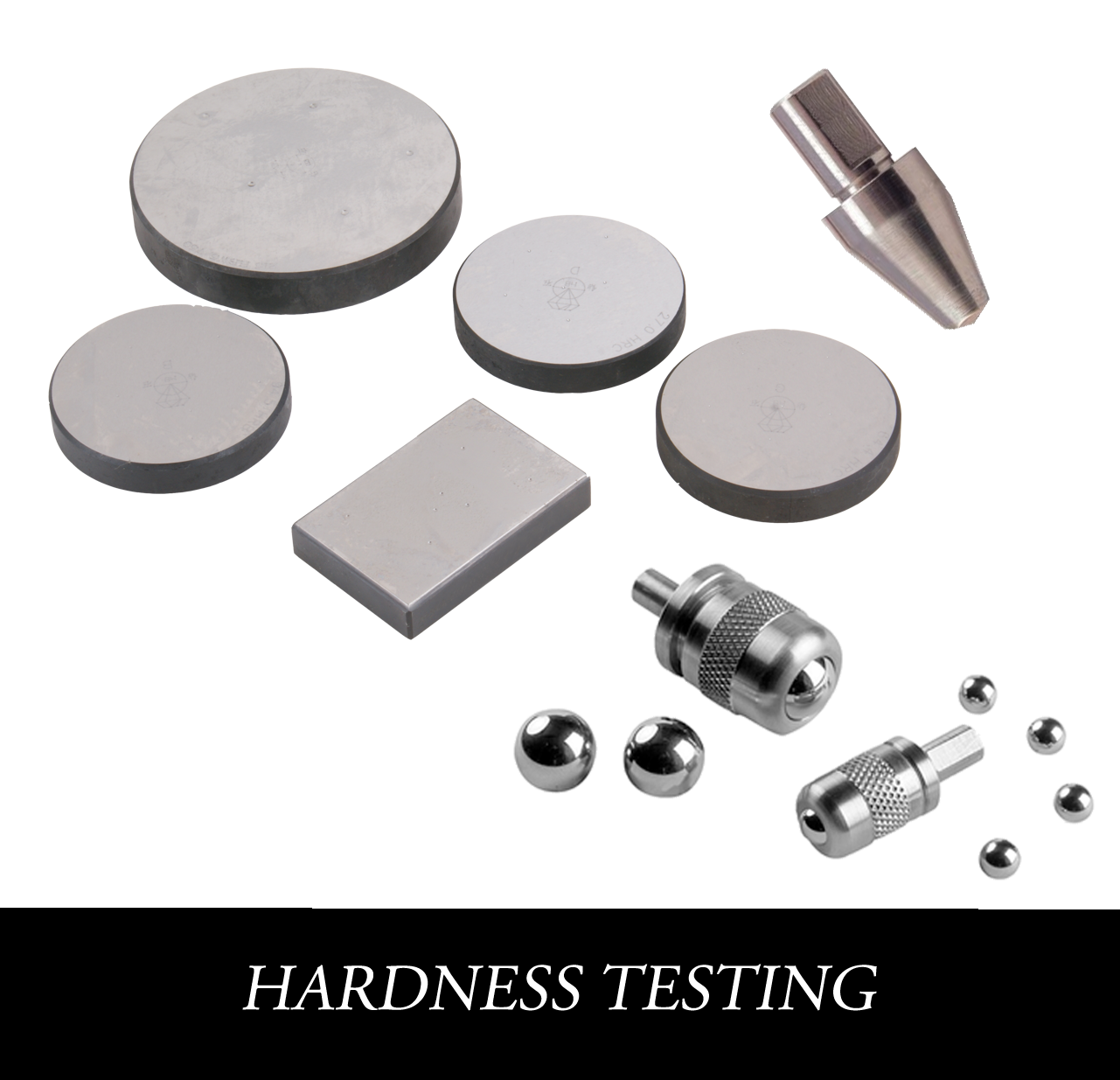 Metallographic hardness testing consumables