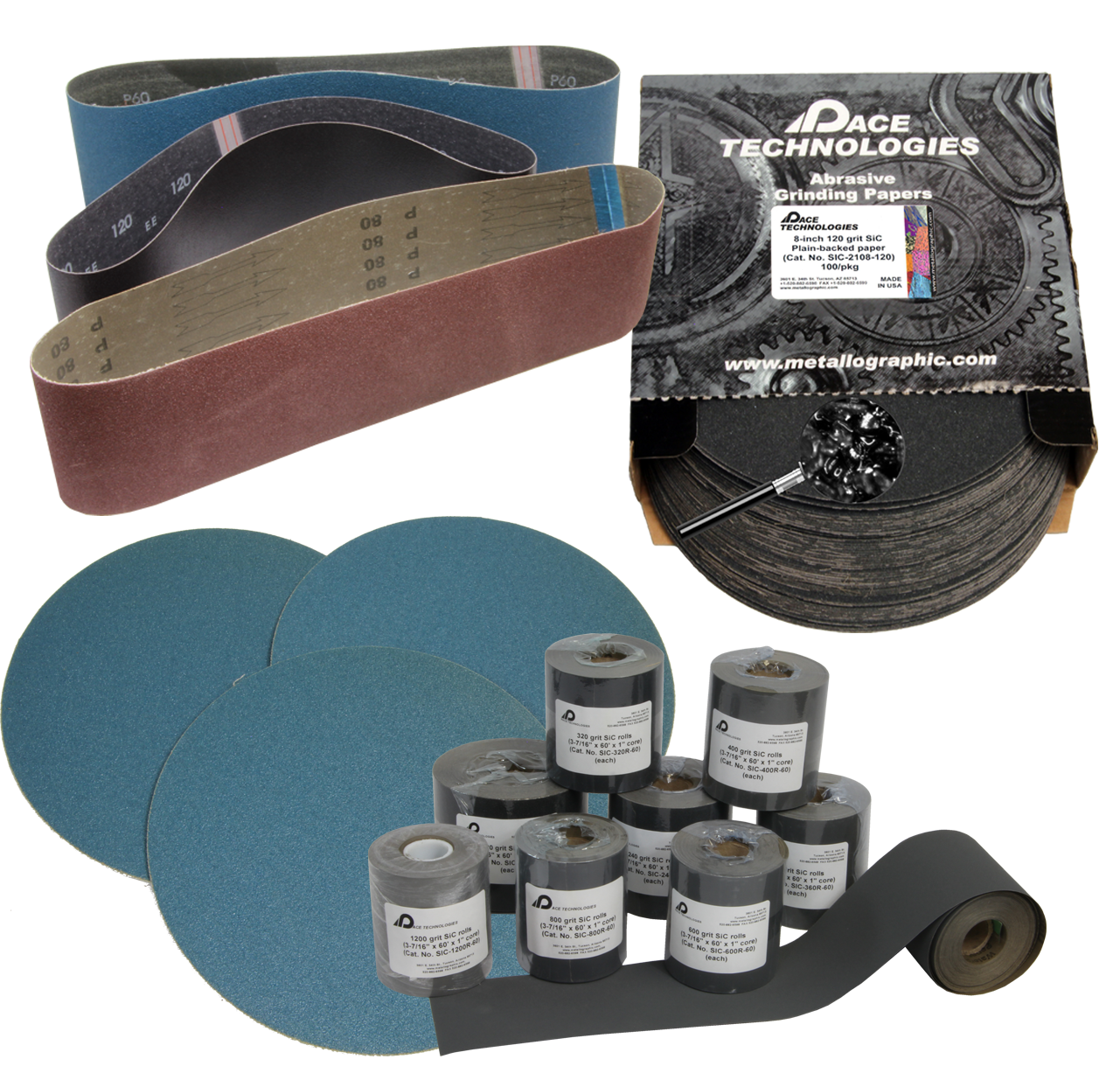 PACE Technologies metallographic grinding abrasives