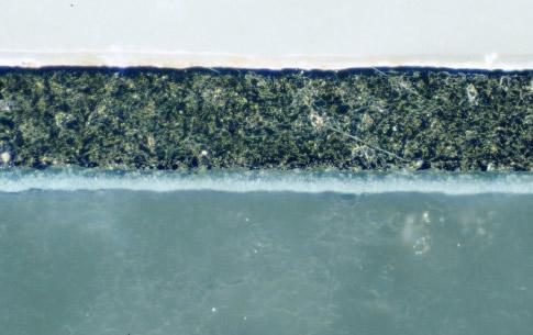 Metallographic micrograph of Aluminum Nitride ceramic package in DF illumination