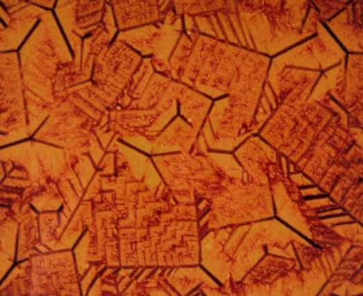 Metallographic micrograph of alumino-silicate glass ceramic